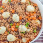 Pork Giniling is a pork dish that makes use of ground pork as the primary ingredient. Ground pork is stewed in tomato sauce and water to bring out the taste while vegetables such as carrots and potatoes (some also like this with raisins and green peas) are added for additional flavor and nutrition.