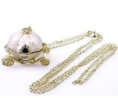 Amazon - Cinderella Pumpkin Carriage Necklace on Sale for $2.42 Shipped!