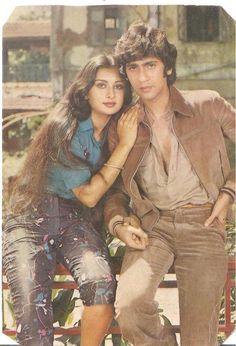 Vintage Bollywood, Bollywood Girls, Bollywood Stars, Beautiful Bollywood Actress, Most Beautiful Indian Actress, Hot Actresses, Indian Actresses, Poonam Dhillon, Karena Kapoor