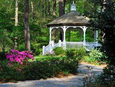 Cape Fear Botanical Gardens, near Ft Bragg NC Wedding Rentals, Wedding Venues, Cape Fear, Botanical Gardens, Beautiful Gardens, Gazebo, Restoration, Dream Wedding, Places To Visit