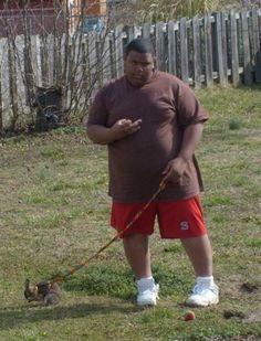 Taking this gangsta bunny for a walk yo!