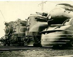 Four passenger locomotives on the Pennsylvania Railroad