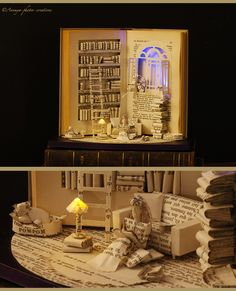 Book sculpture The Paper House... by AnemyaPhotoCreations.deviantart.com on @deviantART