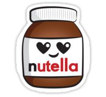 Nutella face 5 Sticker