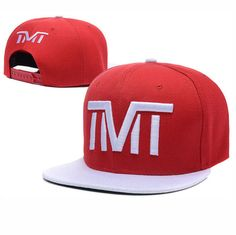 TMT--The Money Team Snapback Hats Adjustable Caps Red White 131 cheap for  sale 295e39fbd0d