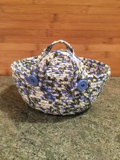 Blueberry clothesline basket Just for inspiration. I may have some of the fabric.