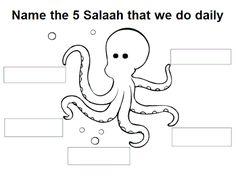 5 Daily Prayers – islamic worksheets