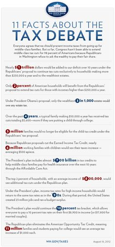Twitter / whitehouse: 11 Facts about the tax debate: ...