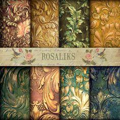 Charles Dickens Floral Digital Paper, Scrapbook Paper, Decoupage Paper, Digital Vintage Paper, Floral Wallpaper, Digital Paper Pack         April 29, 2014 at 01:42AM