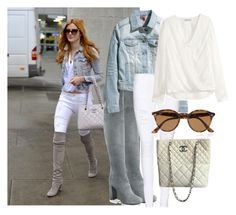 Steal Her Style:Bella Thorne #16 by fashionfreak-steph on Polyvore featuring polyvore, fashion, style, H&M, Frame Denim, Prada, Chanel, Ray-Ban and JFK