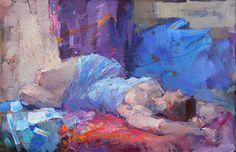 Девушка в голубом. х., м., 60х90 см., 2014