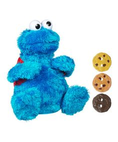 Take a look at this Count  n  Crunch Cookie Monster Talking Plush Toy Set d00c19f2bb30