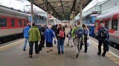 Am Montagfrüh (31. August) ist unser Sonderschlafwagen dann in Moskau Belaruskaja angekommen, dem weißrussischen Bahnhof. Dort enden allen Zugverbindungen aus Richtung Deutschland/Polen/Tschechien, die nach Moskau führen. Es ist einer von 9 Kopfbahnhöfen in Moskau.
