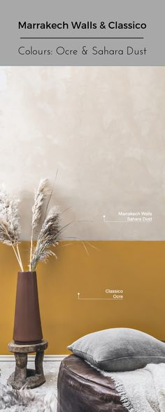 Marrakech Walls, with the appearance of concrete or a soft Tadelakt look, will be a true eye-catcher in your home. Chalk Paint Colors, White Chalk Paint, Wall Colors, Chalk Wall Paint, Plaster Paint, Plaster Walls, Lime Paint, Tadelakt, Types Of Painting