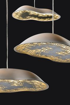 Sluggish Porcelain Lighting - The Talisse Lamp Boasts a Decorative Brass Panel (GALLERY)