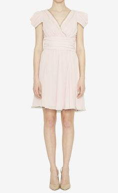 Karl Lagerfeld Light Pink And Black Dress