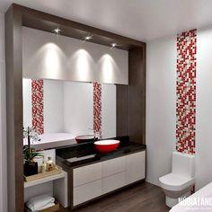 Wc | Banheiro | Bathroom por NP Interiores - Núbia Procópio Interiores.