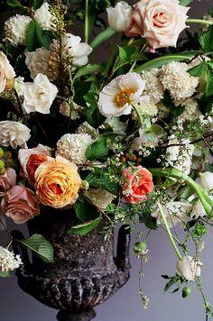 Wedding Ideas: orange-white-centerpiece