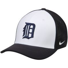 Detroit Tigers Nike Vapor Performance Swoosh Flex Hat - White/Navy