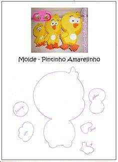 Pintinho+Amarelinho+-+Molde.jpg (1163×1600)