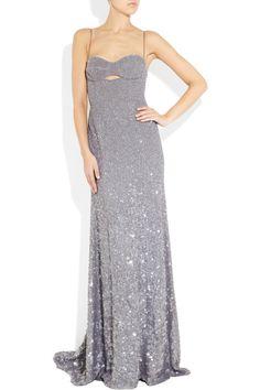 KAUFMANFRANCO Sequin-embellished silk gown NET-A-PORTER.COM