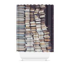 Literary shower curtains