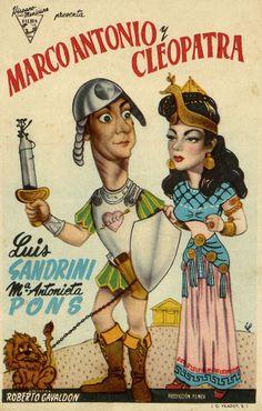 172.  JANO. Marco Antonio y Cleopatra. Dirigida por Roberto Gavaldón. Valencia: I. G. Viladot, [1947]. #ProgramasdeMano #BbtkULL #Diseñadores #Jano #DiadelLibro2014