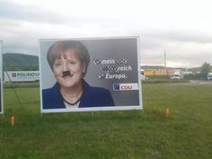 Meanwhile in Germany...you might think some Germans are frustrated by Angela Merkel  // funny pictures - funny photos - funny images - funny pics - funny quotes - #lol #humor #funnypictures