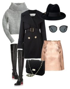 """""""Untitled #556"""" by echi13 ❤ liked on Polyvore featuring J.Crew, See by Chloé, Christian Louboutin, Gucci and Prada"""
