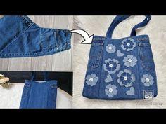 Tutorial de bolsa de reciclagem de jeans   Bolsa de jeans velho   Bolsa jeans - YouTube Recycle Jeans, Upcycle, Denim Bag, Denim Jeans, Diy Shorts, Denim Crafts, Beautiful Handbags, Shopping Bag, Youtube