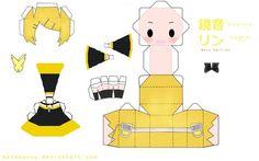 deviantART: More Like Chibi Vocaloid SeeU Papercraft by *tsunyandere