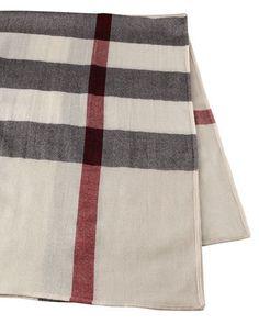 Burberry+Lightweight+Wool+Check+Blanket