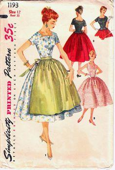 Cute '50's dress. Simplicity 1193