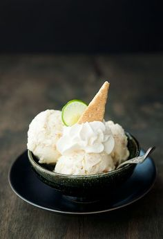 Key Lime Pie Ice Cream | Use Real Butter http://pinterest.com/pin/105905028712502017/
