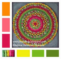 Rainbow Vermicelli Mandala ~ free pattern