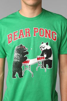 """bear"" pong.  oh how punny"