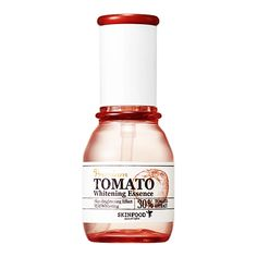 Skinfood Premium Tomato Whitening Essence (Anti-wrinkle Effect) | Contains 30 % sun-kissed tomato extract and stabilized vitamin C derivative. An intensive brightening serum that promotes pure, bright skin.