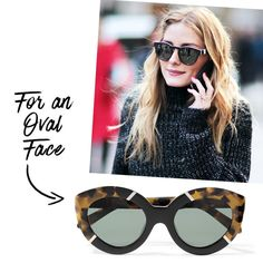- If your face is long and slim, a cat eye adds shapeliness.