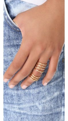 Elizabeth and James Berlin Multi Band Knuckle Ring