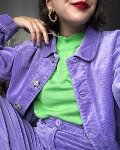 monki entering your feed to bring back ur cord obsession 💜🍇💟 Girl Outfits, Cute Outfits, Fashion Outfits, Street Trends, Ethical Clothing, Alternative Outfits, Material Girls, Comfortable Outfits, Colorful Fashion