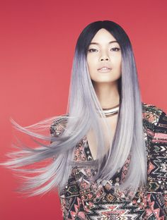 We're inspired by this lavender-grey ombre by Ian Michael Black for American Salon.