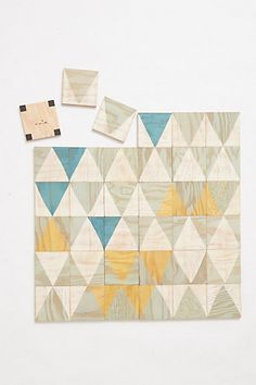Calypso Wall Tiles  #anthropologie - check these out!  Wouldn't they be cool on stair risers? they are magnetic - I wonder if you could just paint the risers or a wall with magnetic paint.