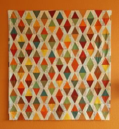 oakshott triangles- progress by Spotted Stone Studio {Krista}, via Flickr