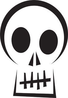 Here's a Scared Skull pumpkin carving stencil to put you in a scary mood. This printable Halloween pumpkin carving stencil will put a fright into trick or treat visitors or smiles on your costume party guests. Easy Pumpkin Carving Patterns, Pumpkin Carving Stencils Free, Pumkin Carving, Moldes Halloween, Halloween Templates, Halloween Crafts, Halloween Decorations, Halloween Fonts, Halloween 2019