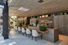 16 trendy home kitchen bar islands Modern Kitchen Design, Interior Design Kitchen, Home Decor Kitchen, Home Kitchens, Outdoor Kitchens, Outdoor Cooking, Kitchen Ideas, Trendy Home, Kitchen Remodel