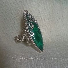 Ring of Melchior and malachite. Wire wrap