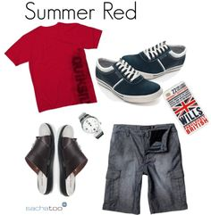 """Summer Red"" by sachalondon on Polyvore"
