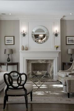 Living room with fireplace design and ideas that will keep you warm all winter - Kamin Wohnzimmer Modern Home Fireplace, Fireplace Remodel, Living Room With Fireplace, Fireplace Surrounds, Fireplace Design, Fireplace Ideas, Farmhouse Fireplace, Mantel Ideas, Simple Fireplace