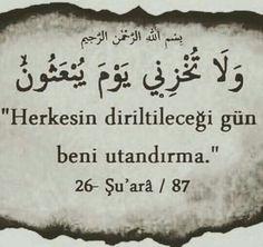 HESAP GÜNÜ... Allah Islam, Islam Quran, Islamic Dua, Islamic Quotes, Learn Turkish Language, Weird Dreams, Poem Quotes, Islamic Pictures, Holy Quran