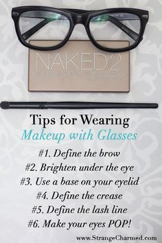 Ideas for Sporting Make-up with Glasses!. ** See more at the image link